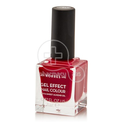 KORRES - GEL EFFECT Nail Colour No51 Rosy Red - 11ml