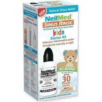 NEILMED SINUS RINSE KIDS STARTER KIT & 30 PREMIXED PACKETS