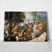 Titian the bacchanal of the andrians