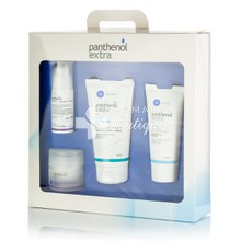 Panthenol Extra Σετ (Βαλιτσάκι) - 1. Face & Eye CREAM 24h (50ml) - 2. Face & Eye SERUM (30ml) - 3. Face CLEANSING GEL (150ml) - 4. CREAM (100ml)