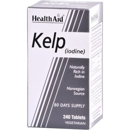 Health Aid KELP Rich in Iodine (Norwegian Source), 240 tabs