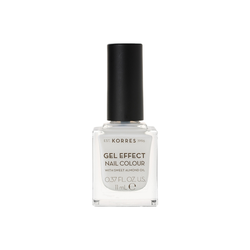 Korres Gel Effect Nail Colour Βερνίκι Νυχιών 02 Porcelain White 11ml