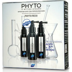 Phyto RE30  Traitement Anti-Cheveux Blancs Φροντίδα Kατά Tων Γκρίζων Μαλλιών, 3x 50ml