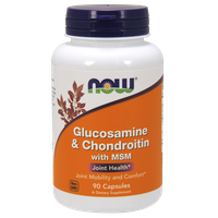 NOW GLUCOSAMINE & CHONDROITIN WITH MSM, 90 CAPS