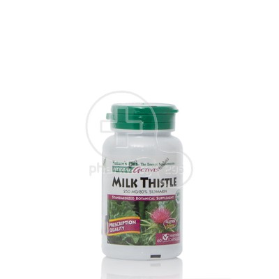 NATURE'S PLUS - HERBAL ACTIVES Milk Thistle 250mg - 60caps