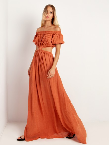 Maxi off shoulder dress