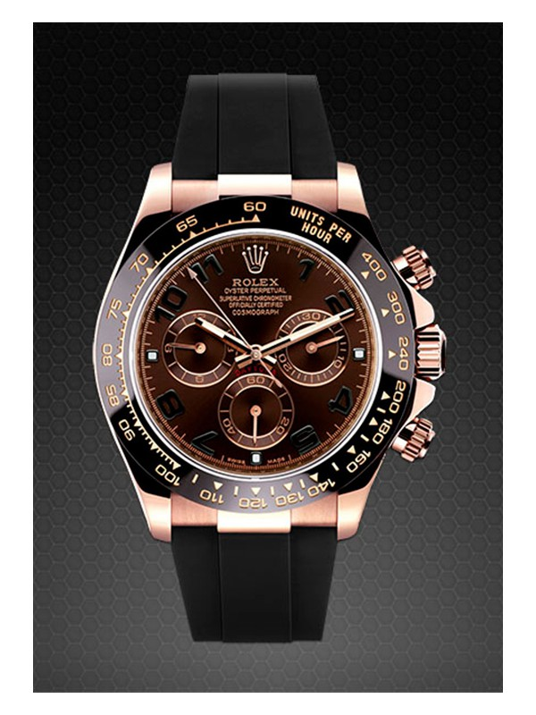 Rubber B For Rolex Daytona Ceramic Gold