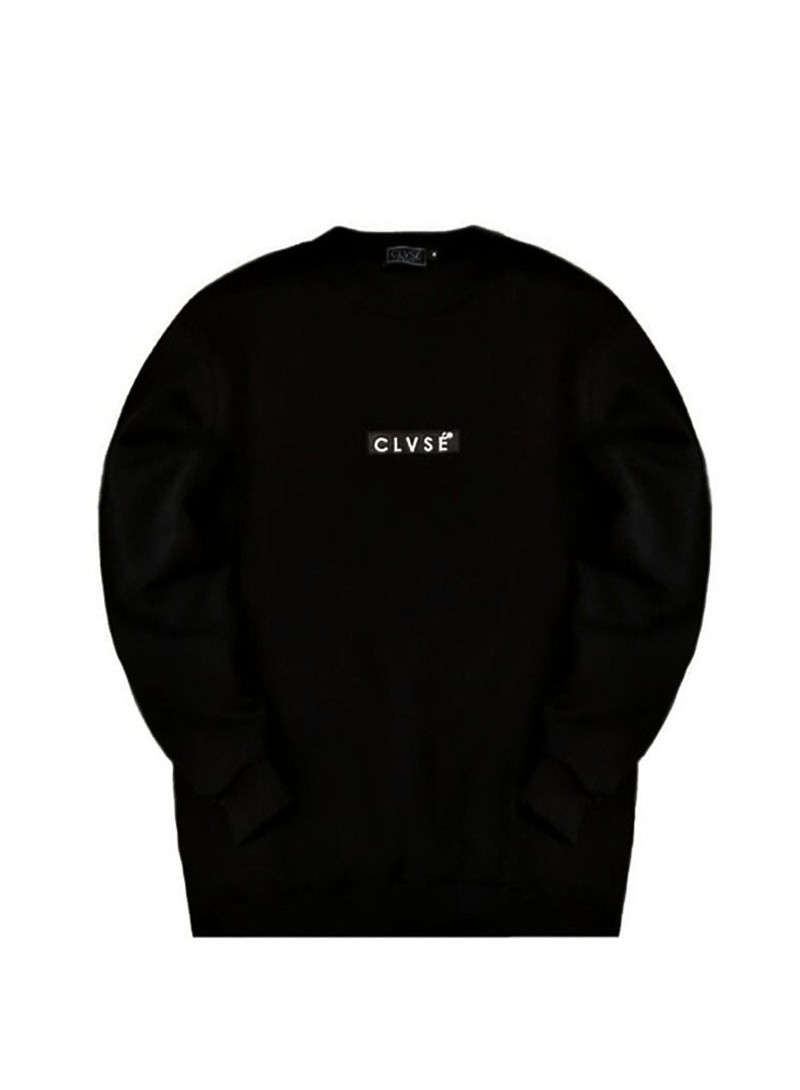 CLVSE SOCIETY BLACK EMBROIDERED SWEATSHIRT