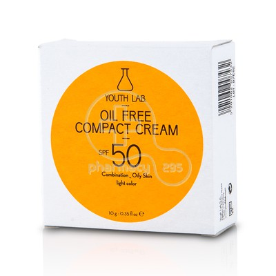 YOUTH LAB - Oil Free Compact Cream SPF50 Light Colour - 10g Oily/Combination Skin