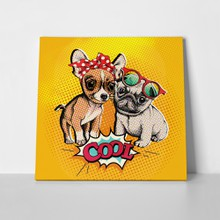 Pop art comic poster image puppies 442900279 a