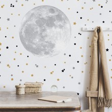 Cute moon and stars