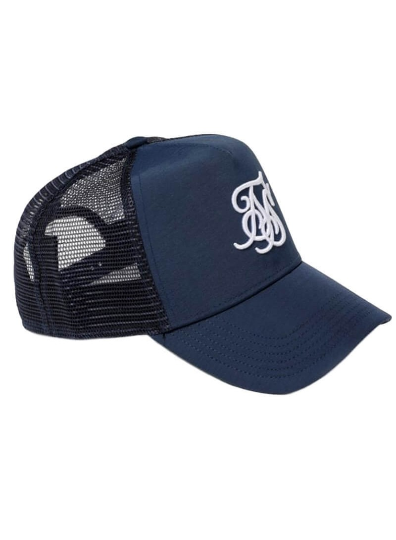 SikSilk Bent Peak Trucker - Navy