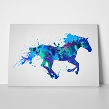 Horse watercolor splashes 290778632 a