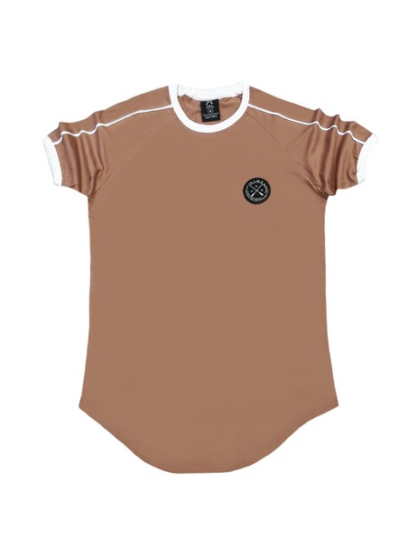 VINYL ART CLOTHING BROWN 2 STRIPE T-SHIRT