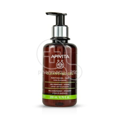 APIVITA - CLEANSING GEL Purifying Gel Καθαρισμού με Πρόπολη & Lime - 200ml Oily/Combination Skin