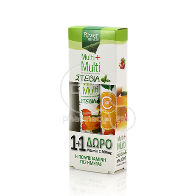 POWER HEALTH - PROMO PACK Multi+Multi  με Στέβια (24eff.tabs) ΜΕ ΔΩΡΟ Vitamin C 500mg (20eff.tabs)