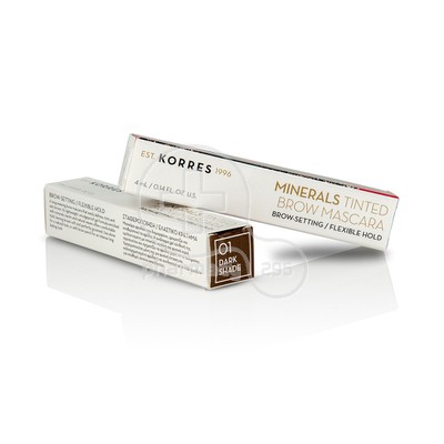 KORRES - MINERALS TINTED Brow Mascara 01 Dark Shade