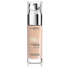 L'OREAL TRUE MATCH SUPER BLENDABLE FOUNDATION W1 GOLDEN IVORY SPF17 30ml