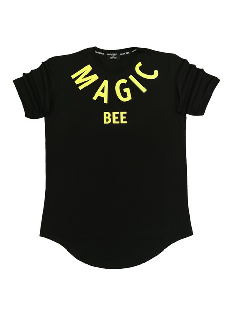 MAGIC BEE CLOTHING BLACK T-SHIRT WITH YELLOW LOGO