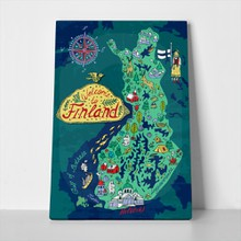 Illustrated map finland travels 441424558 a