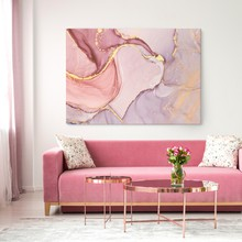 Pink and gold marble paint web