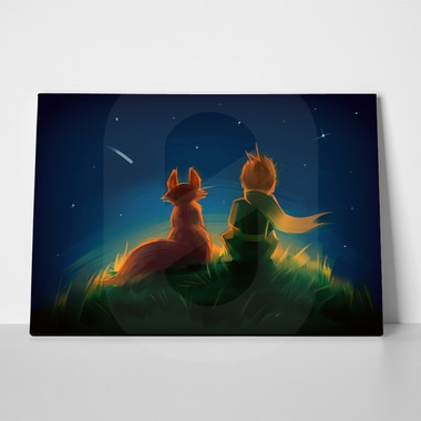 Little prince fox sitting on grass 481793977 a