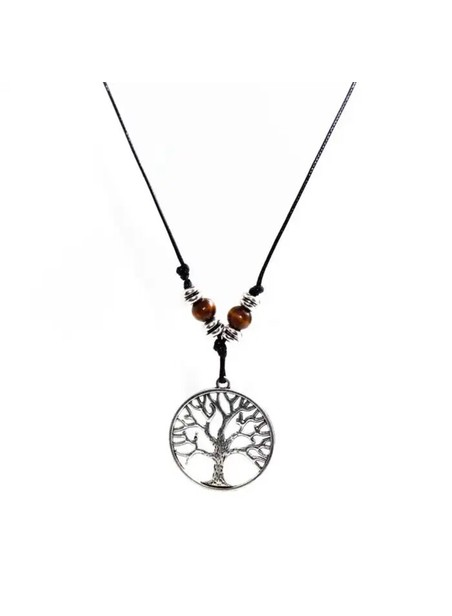 MILLIONALS ROUNDED TREE CORD NECKLACE