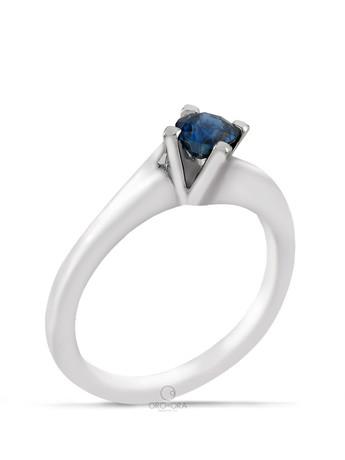 Μονόπετρο Δαχτυλίδι Λευκόχρυσο Κ18 με Ζαφείρι 0 8380ca38777