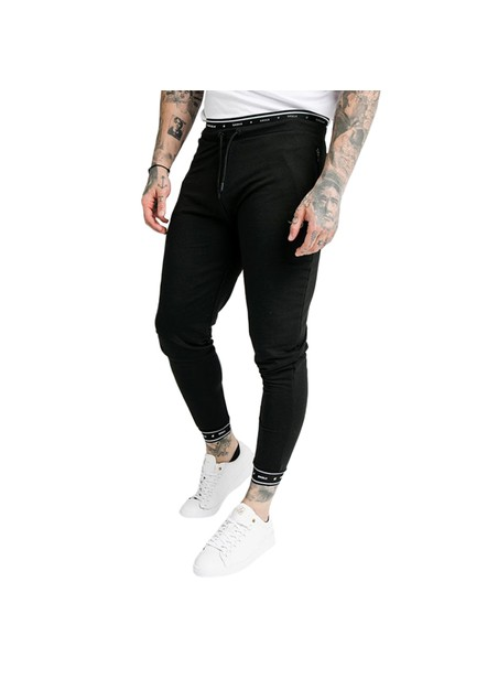 SikSilk Active Muscle Fit Jogger - Black