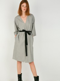 Wrap dress with belt