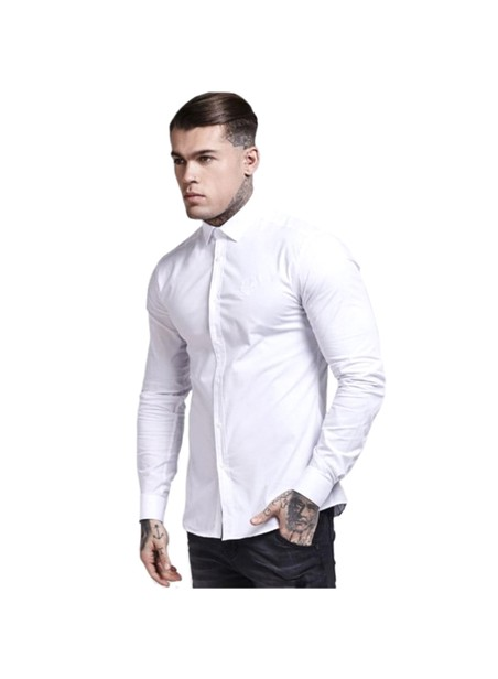 SikSilk Cotton Stretch Shirt - White