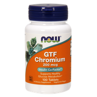NOW GTF CHROMIUM 200 MG, 250 TABS