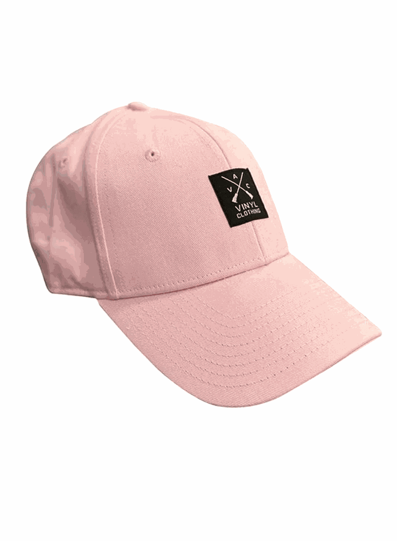 VINYL ART CLOTHING LIGHT PINK BASEBALL CAP