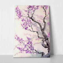 Watercolor spring lilac japanese style purple 174823037 a