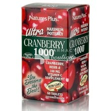 Natrue's Plus UTRA CRANBERRY 1000 - Ουρολοίμωξη, 60tabs