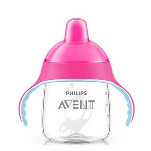 Avent scf753 07 pink cup with spout handles 260ml