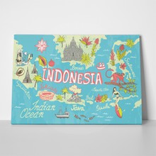 Illustrated map indonesia 1034076988 a