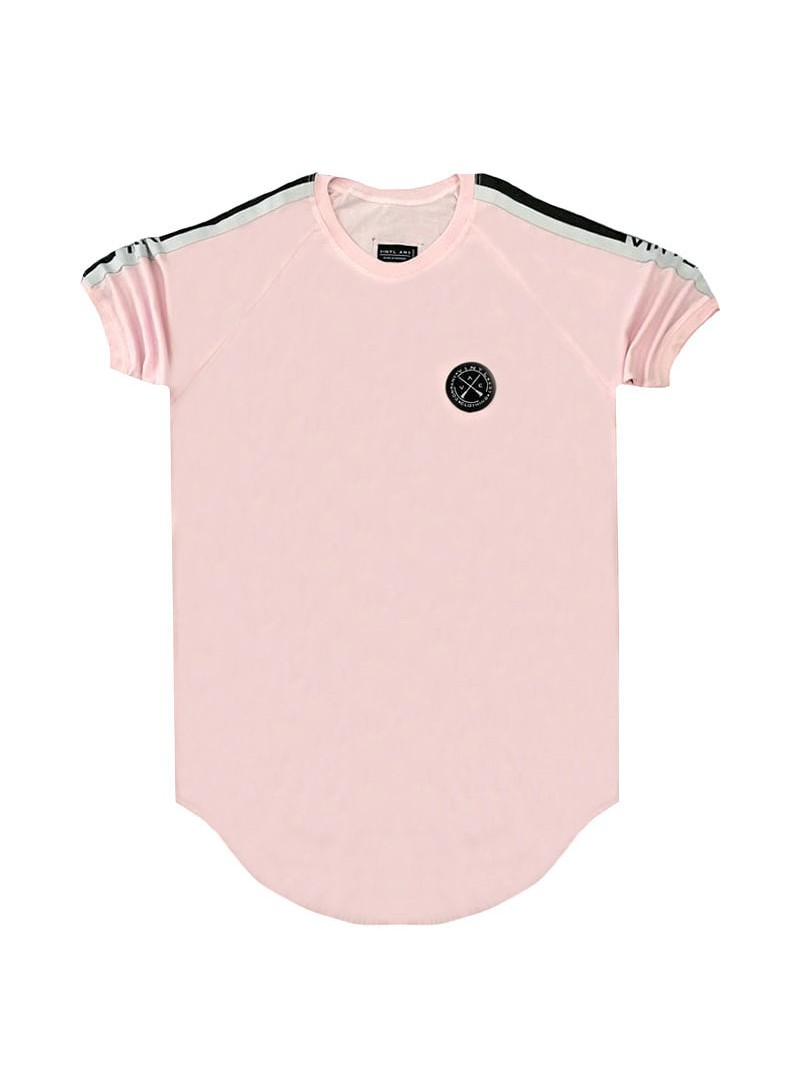 VINYL ART CLOTHING PINK TAPED T-SHIRT