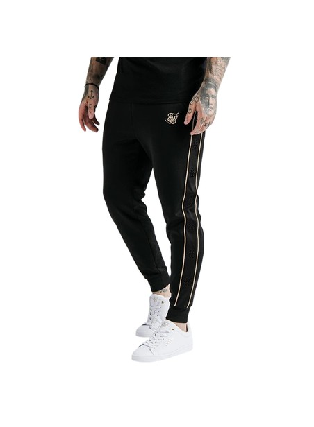 SikSilk Astro Cuffed Track Pants - Black & Gold