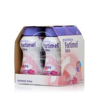 NUTRICIA -  Fortimel Extra με γεύση Φράουλα 4Χ200ml (Συσκευασία των 4τεμάχιων )