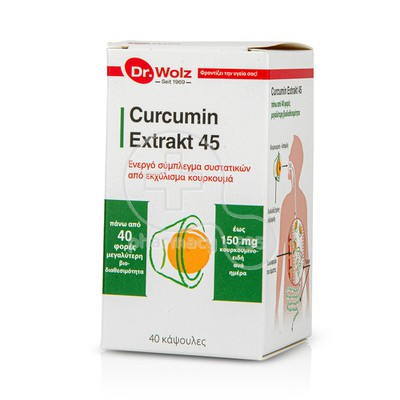 POWER HEALTH - DR. WOLZ Curcumin Extrakt 45 - 40caps