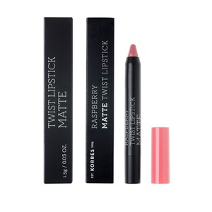 KORRES Lipstick twist raspberry matte dusty pink 1