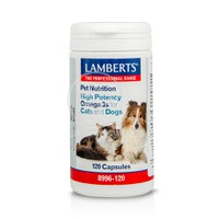 LAMBERTS - PET NUTRITION High Potency Omega 3s for Cats & Dogs - 120caps