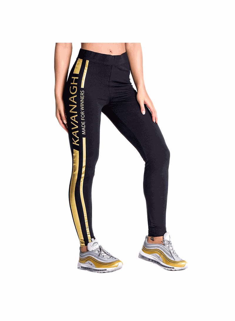 Gianni Kavanagh Black Champion Racer Leggings