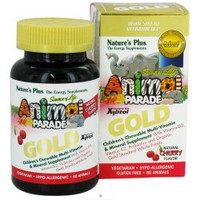 NATURES PLUS ANIMAL PARADE GOLD (CHERRY FLAVOR) 60CHEW. ANIMALS