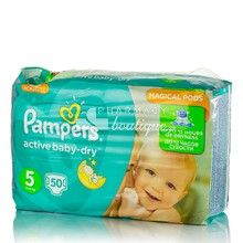 Pampers No.5 (11-18 kg) - Active Baby Dry, 50τμχ.