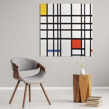 Mondrian   composition with yellow blue and red  new