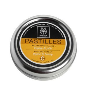Apivita pastilles for sore throat and cough relief with thyme   honey 45gr