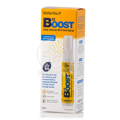 BETTER YOU - Boost B12 Oral Spray - 25ml
