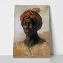 Portrait of a turk in a turban delacroix a
